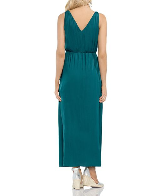 VINCE CAMUTO Double V-Neck Maxi Dress | Bloomingdale\'s