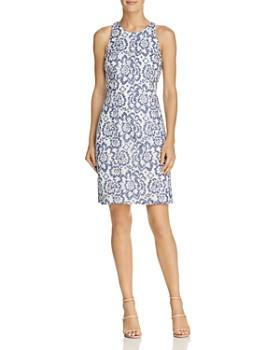 b1a94e61a05b Adrianna Papell - Floral Lace Racerback Sheath Dress ...