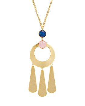 kate spade new york - Loop & Teardrops Pendant Necklace, 30""