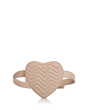 Maje QUILTED LEATHER HEART BELT BAG