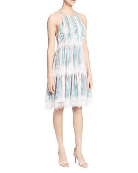 CATHERINE Catherine Malandrino - Sidonie Striped Lace-Trim Dress