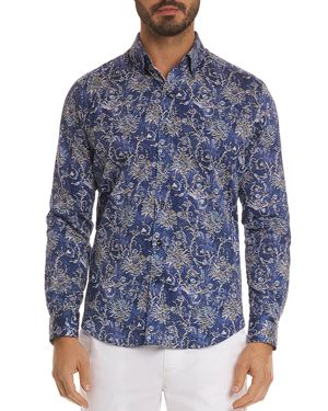 Robert Graham Saint Pattern Classic Fit Button-Down Shirt