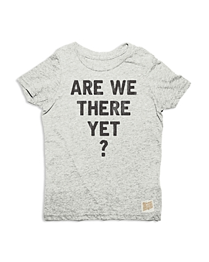 Retro Brand Boys Are We There Yet Tee  Little Kid