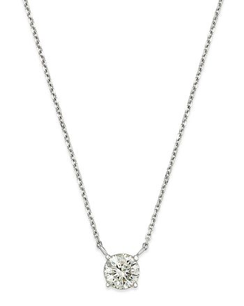 Bloomingdale's - Diamond Solitaire Pendant Necklace in 14K White Gold, 1.0 ct. t.w. - 100% Exclusive
