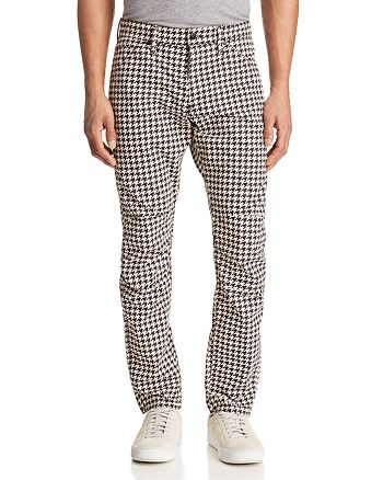 G-STAR RAW - Elwood 5622 3D Slim Fit Jeans in Houndstooth