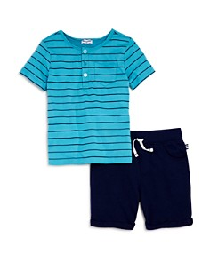 Splendid Boys' Striped Henley Tee & French Terry Shorts Set - Little Kid - Bloomingdale's_0