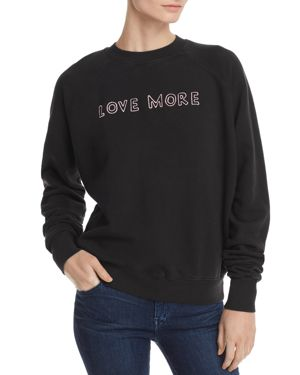 LOVE MORE EMBROIDERED SWEATSHIRT