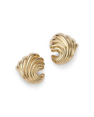 Bloomingdale's Small Shell Earrings in 14K Yellow Gold - 100% Exclusive
