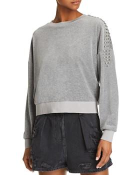 IRO.JEANS - Heathen Studded Velour Sweatshirt