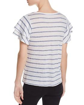 Generation Love - Kiki Lace-Up Striped Tee