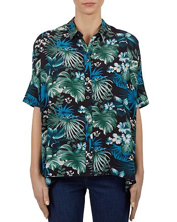 Gerard Darel - Clotilde Tropical-Print Button-Down Shirt