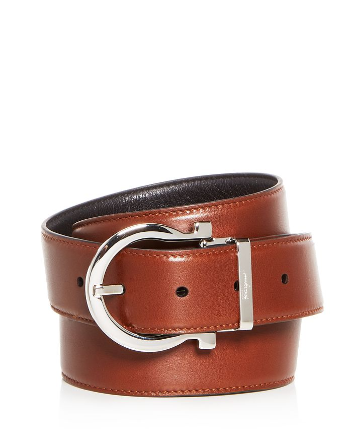 Salvatore Ferragamo - Men's Gancini Buckle Reversible Leather Belt