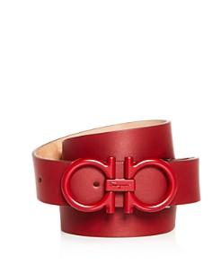 Salvatore Ferragamo Matte Double Gancini Buckle Reversible Leather Belt - Bloomingdale's_0