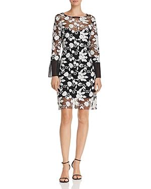 nanette Nanette Lepore Embroidered Illusion Dress