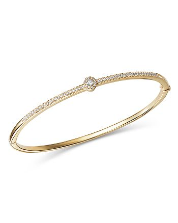 Bloomingdale's - Diamond Flower Station Bangle in 14K Yellow Gold, 0.33 ct. t.w. - 100% Exclusive
