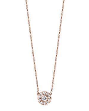 Bloomingdale's Diamond Bezel Pendant Necklace in 14K Rose Gold, 0.25 ct. t.w. - 100% Exclusive