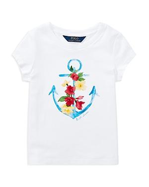 Polo Ralph Lauren Girls Anchor Graphic Tee  Little Kid