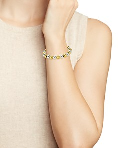 AQUA - Beaded Stretch Bracelet in 18K Gold-Plated Sterling Silver and Sterling Silver - 100% Exclusive
