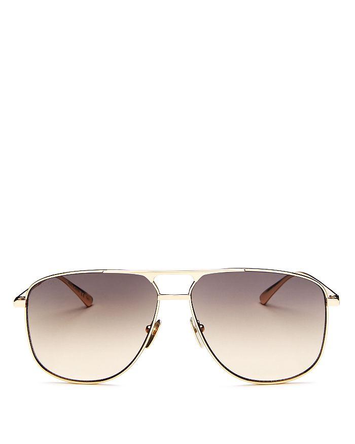 Gucci - Men's Brow Bar Aviator Sunglasses, 64mm