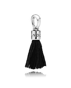 PANDORA Sterling Silver & Fabric Black Tassel Drop Charm - Bloomingdale's_0