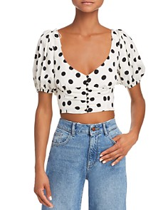 For Love & Lemons - Lexington Crop Top