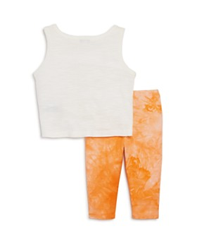 Splendid - Girls' Tie-Front Tank & Tie-Dye Leggings Set - Baby