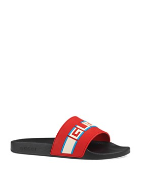 5b48d7a17 Gucci - Men's Logo Stripe Slide Sandals ...