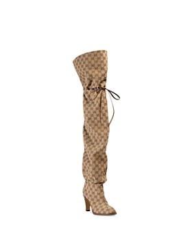 Gucci - Women's GG Canvas Over-the-Knee Boots