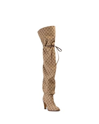 Women\u0027s GG Canvas Over,the,Knee Boots