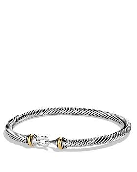 David Yurman Cable Buckle Bracelet With 18k Gold