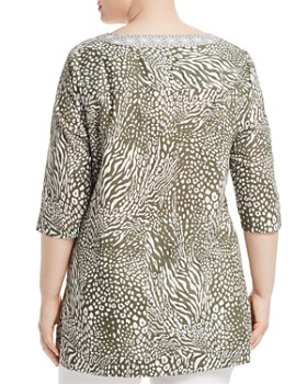 Foxcroft Plus - Toni Animal-Print Tunic