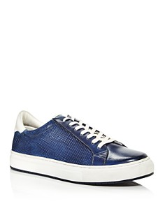 Kenneth Cole - Men's Don Embossed Leather Lace Up Sneakers