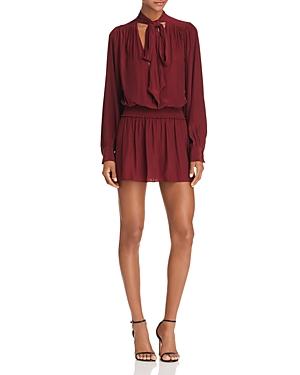 Ramy Brook Winslow Tie-Neck Mini Dress