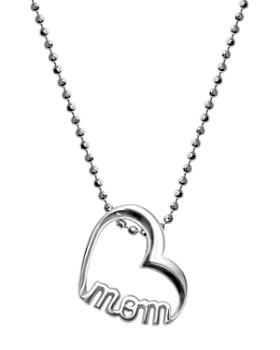 """Alex Woo - Sterling Silver Single Mom Heart Necklace, 16"""""""