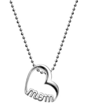 ALEX WOO Sterling Silver Single Mom Heart Necklace, 16