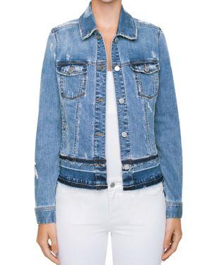 LIVERPOOL Released Hem Denim Jacket In Elsinor in Blue