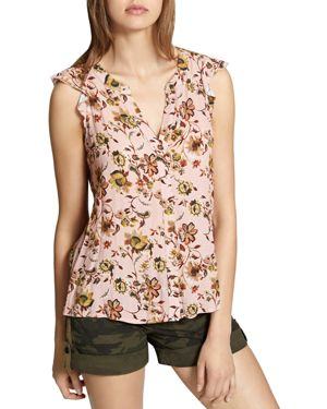 Craft Split-Back Floral Print Top, Land Of Enchantment