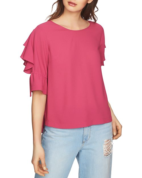 1.STATE - Ruffle-Sleeve Top