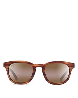 Maui Jim - Women's Koko Head Polarized Mirrored Round Sunglasses, 48mm