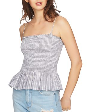 1.state Striped Smocked Camisole