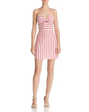 FORE STRIPE TIE-FRONT DRESS