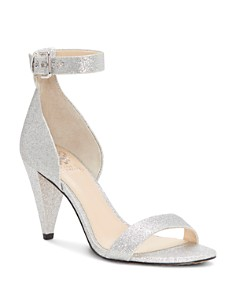 VINCE CAMUTO - Women's Cashane Shimmer Ankle Strap Sandals