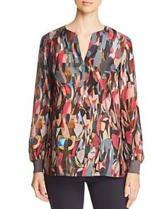 Lafayette 148 New York - Roxy Abstract-Print Silk Blouse