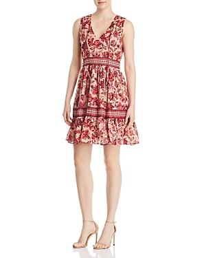 kate spade new york Paisley Blossom Ruffle Dress