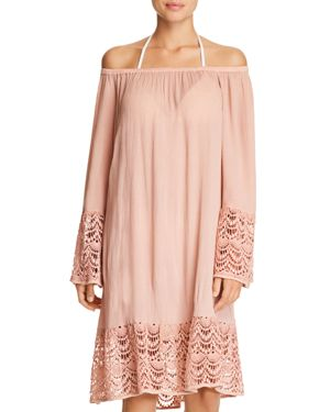 MUCHE ET MUCHETTE Muche Et Muchette Miles Off-The-Shoulder Dress Swim Cover-Up in Natural