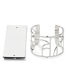 Les Georgettes - Volute Reversible Wide Two-Tone Open Cuff Bracelet