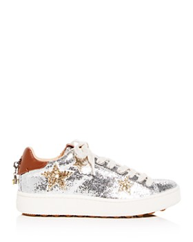 COACH - Women's C1010 Star Glitter Lace Up Platform Sneakers