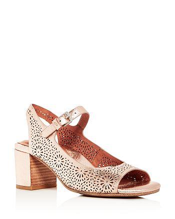 70dcd3cd3 Gentle Souls by Kenneth Cole - Women s Cheryl Floral Cutout Leather Block-Heel  Sandals