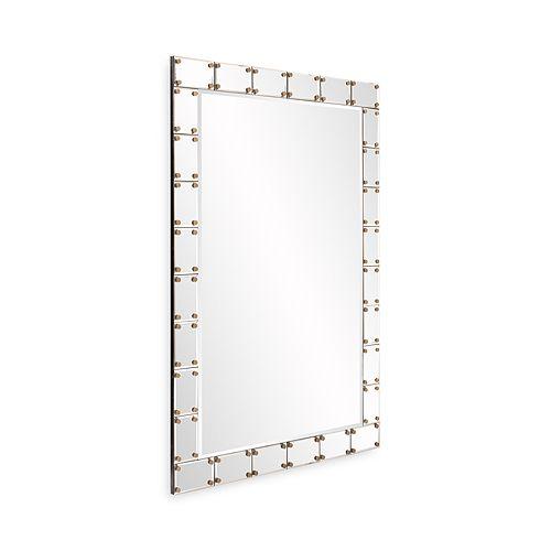 Howard Elliott Remington Studded Mirror 395 X 27 Bloomingdales