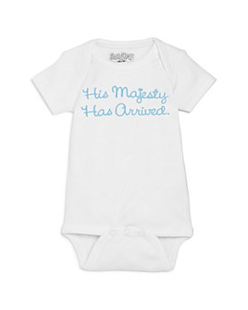 Sara Kety - Boys' His Majesty Has Arrived Bodysuit, Baby - 100% Exclusive